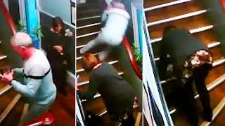 videos de risa  padres vs escaleras