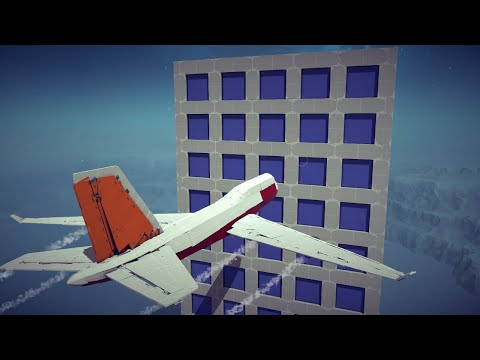 Boeing 747 vs Buildings, Guided Missiles and Midair Explosions   Besiege