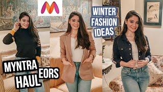 MYNTRA Winter Wear HAUL | Myntra EORS Sale | Winter Wear For Women | Myntra End of Reason Sale 2019