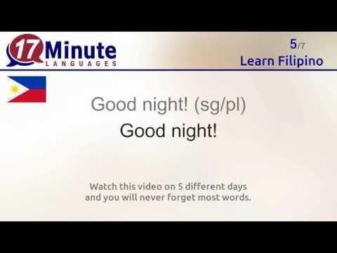 Learn Filipino (free language course video) - YouTube
