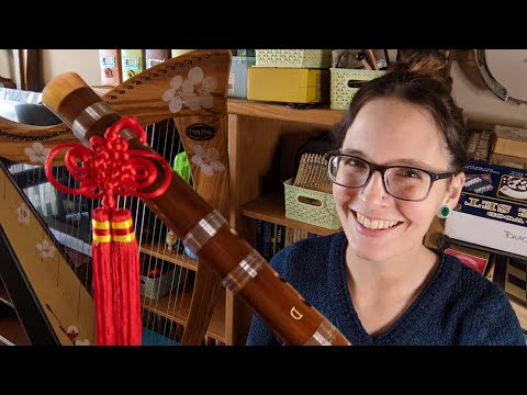 Unboxing and Setup of a Dizi Traditional Chinese Bamboo Flute from Horse