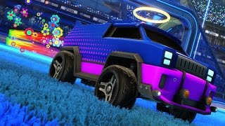 Rocket League ::: Custom Vehicle Themes ::: Psychedelic (Merc)