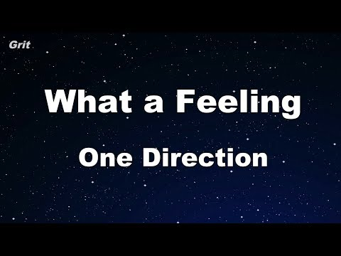 What a feeling - One Direction Karaoke 【No Guide Melody】 Instrumental
