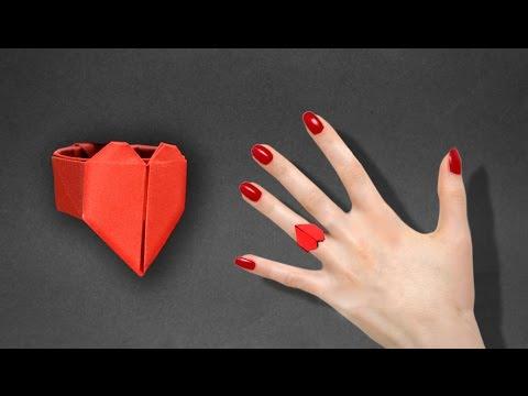 종이접기 하트♥ 반지 만들기
