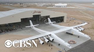 World's biggest airplane takes flight for first time over Mojave desert