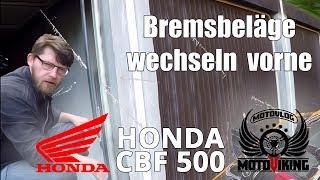 [CBF 500] Bremsbeläge wechseln vorne