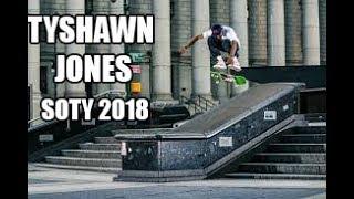 Tyshawn Jones SOTY 2018 || SKATER OF THE YEAR 2018 || BEST OF 2018 || Best Skateboarding Videos TV