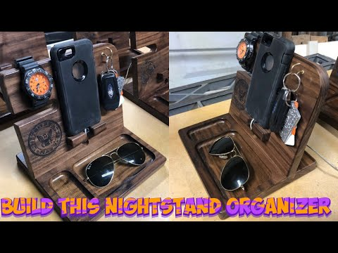 Phone Dock Station and Nightstand Organizer