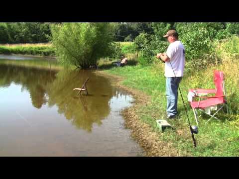 Pond fishing with Richard and Freddy