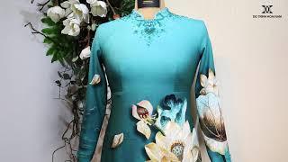 Áo dài hoa sen dành cho nữ doanh nhân | Áo Dài Đỗ Trịnh Hoài Nam