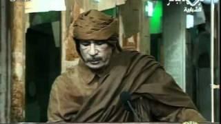 ثورة المختار ليبيا - خطاب القذافي الاخير تهديد الشعب ج7