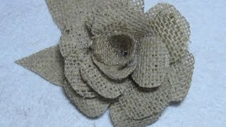 #DIY Como Hacer  Una Flor De Yute O Arpillera #DIY How To Make A Flower Jute Or Burlap
