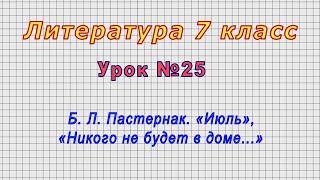 Литература 7 класс Урок 25
