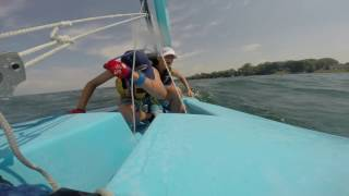 boys sailing in 10 knots