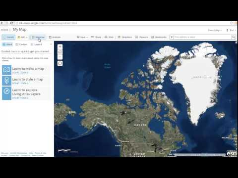 Introduction to ArcGIS Online - YouTube