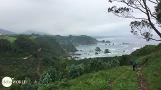 Küstenweg in der Nähe von Novellana