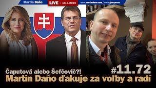 Live: Martin Daňo ďakuje za voľby a radi: Čapútová alebo Šefčovič? #11.72
