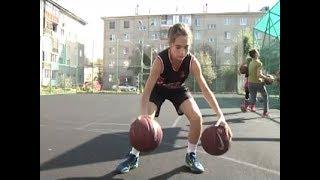 Гений мяча: 12-летняя школьница мастерски играет в баскетбол