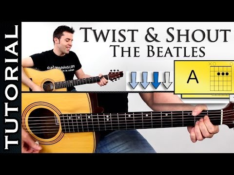Como Tocar TWIST AND SHOUT En Guitarra Acustica Fácil Tutorial Con Acordes Mp3