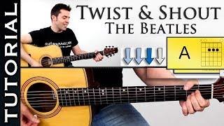"Video thumbnail of ""Como tocar TWIST AND SHOUT en guitarra acustica fácil tutorial con acordes"""