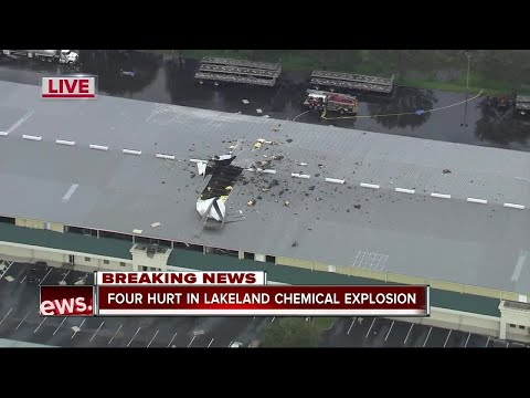 Four hurt in Lakeland chemical explosion