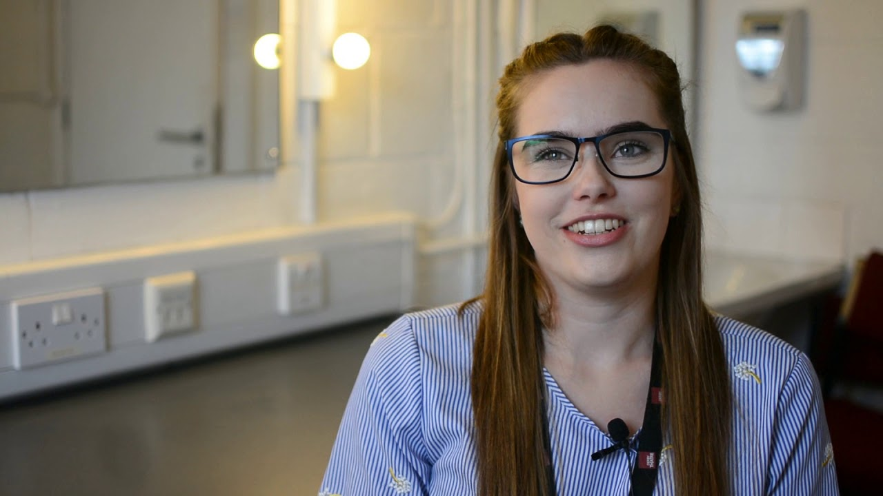 University of Derby graduate Kira Barnett talks about her experience of studying Theatre and securing a full-time marketing role at Derby Theatre before she graduated.