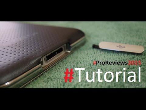 Como Quitar la tapa del cargador del Samsung Galaxy S5