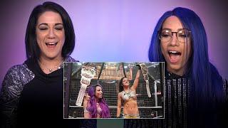 Sasha Banks & Bayley rewatch their Elimination Chamber Tag Team Title win: WWE Playback