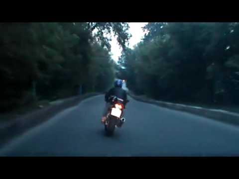 Погоня ДПС за мотогонщиком в Брянске. Смешной конец