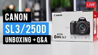 Canon SL3 (250d) Unboxing + Q&A - LIVE