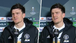 """""""We still need to improve, but it's a great achievement!"""" Harry Maguire on reaching UEL final!"""