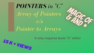 Array of Pointers Vs Pointer to Arrays
