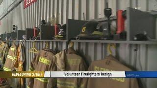 Volunteer Firefighters Resign