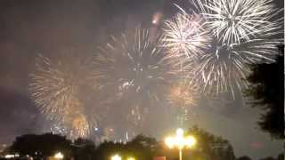 Video : China : New year's eve fireworks, LiuZhou, GuangXi 广西 province