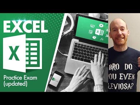 New Mos Exam Excel 2016/2019 - YouTube