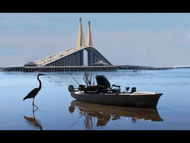 Kayak Fishing near the Sunshine Skyway Bridge