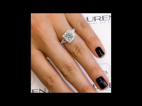 2 Ct Princess Cut Diamond Halo Engagement Ring