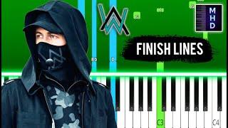 Alan Walker - Finish Lines - Piano Tutorial