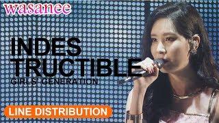 Girls' Generation/Snsd - Indestructible (OT8) - Line Distribution (Color Coded Live)