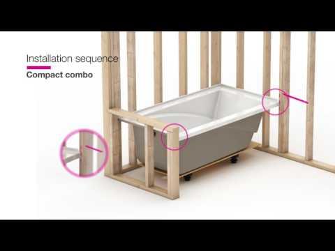 MAAX ModulR — Combo shower and bathtub installation
