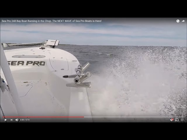 Sea Pro 248 Bay Boat Running in the Chop- The NEXT WAVE of Sea Pro Boats is Here!