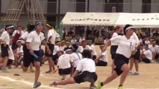 徳山高校 色別対抗リレー 女子 2016 09 03