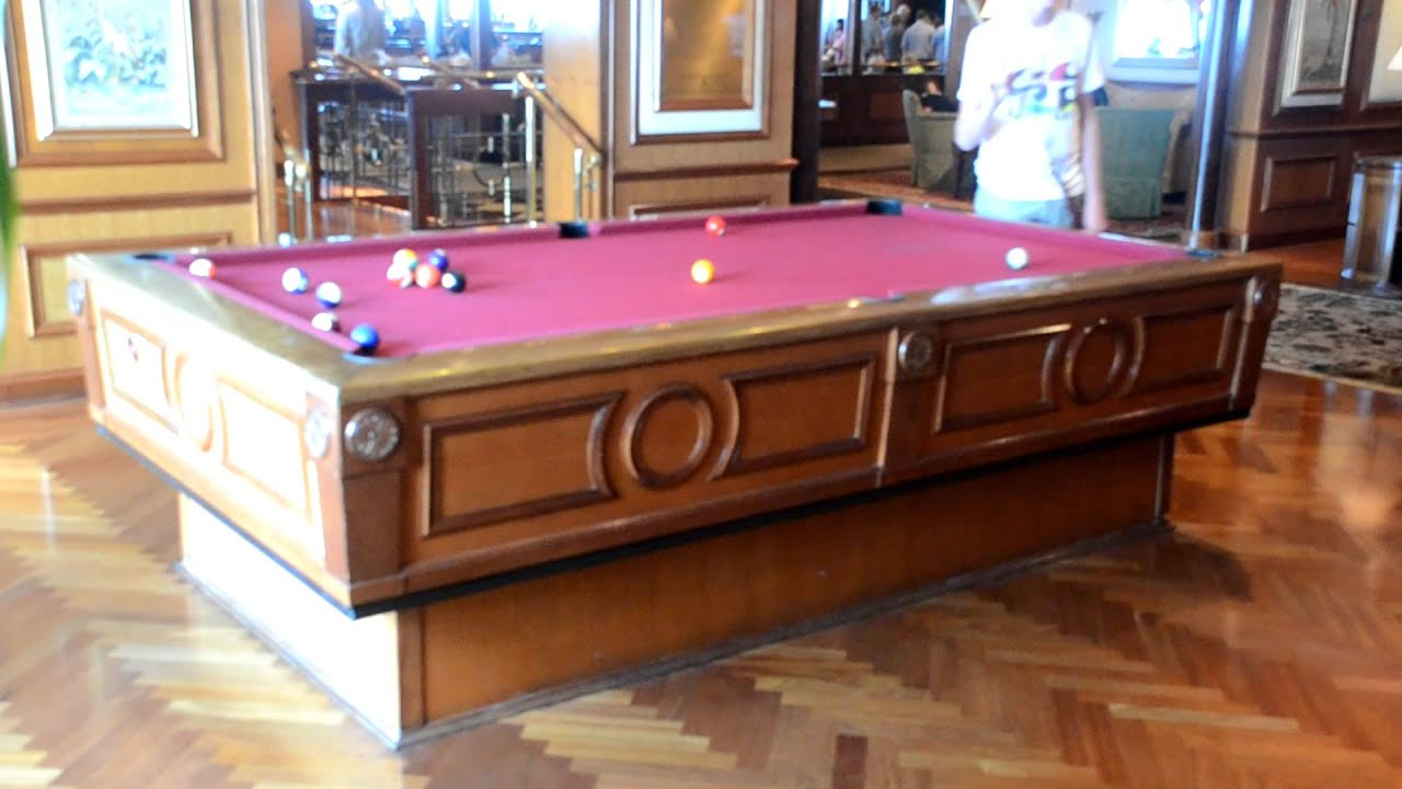 Gyroscopic Pool Table Keeps Your Balls Still On The High Seas