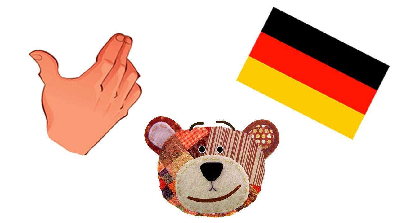 Las partes del cuerpo humano - Alemán para niños