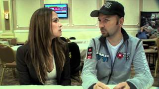 Kimberly Lansing And Daniel Negreanu At The Legends Of Poker