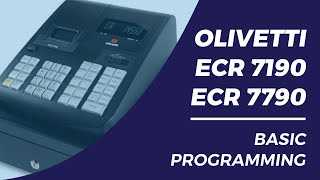 Olivetti ECR7190 7790 Basic programming