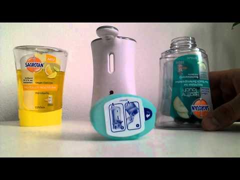 Sagrotan No - Touch Nachfühlen / Auffüllen Tip Seife handelsüblicher Seife befüllen HD Video