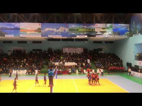 Women's Volleyball match 2076/2019 Nepal vs Srilanka semifinal SAARC game!!
