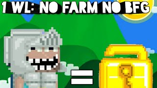 Getting 1 wl with no farm or BFG (For early players) | Growtopia