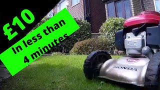 Mowing a small lawn UK